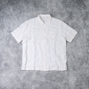 "【Universal Works.】 ROAD SHIRT  ""WHITE""   Self Stripe ユニバーサルワークス"