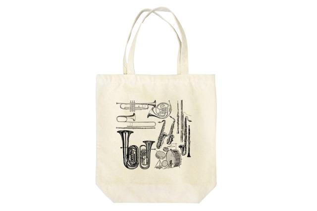 楽器柄のトートバッグ