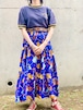 Vintage Cowboy Pattern Tiered Skirt Made In USA