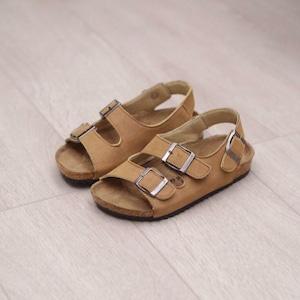 7818子供靴 キッズ ジュニア シューズ サンダル  女の子 男の子 女児 ベビー 子ども 夏シューズ ブラウン