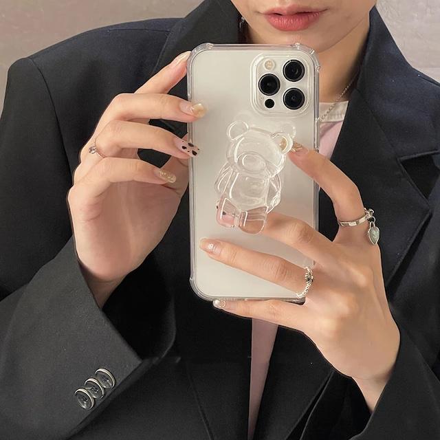 3D Crystal Kuma Grip iphone case