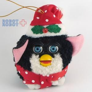 ファービークリスマスオーナメントぬいぐるみ ブラックXホワイト