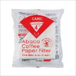 cafec アバカ円錐ペーパーフィルター 1~4杯用