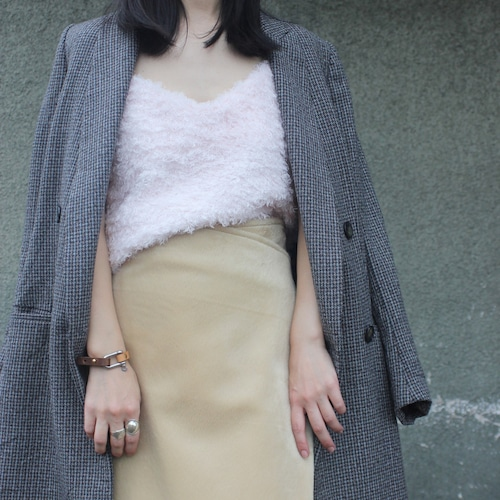 Low fur rap skirt