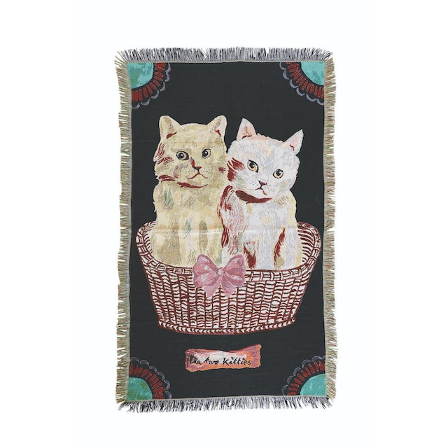 ナタリーレテ タペストリーラグ / Kitties 90x150cm ポリエステル80% 綿20% NL377