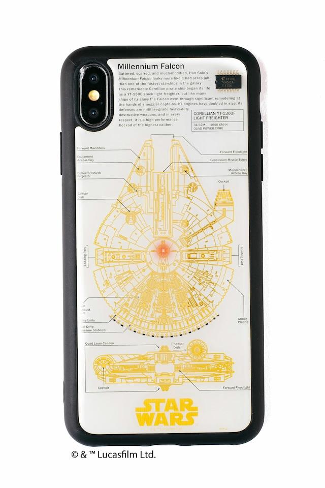 FLASH M-FALCON 基板アート iPhone XS Maxケース 白【東京回路線図A5クリアファイルをプレゼント】