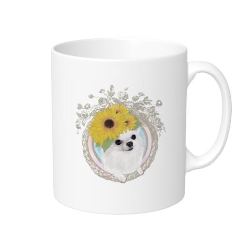 マグカップ 【フルールパティ】チワワデザイン 受注生産