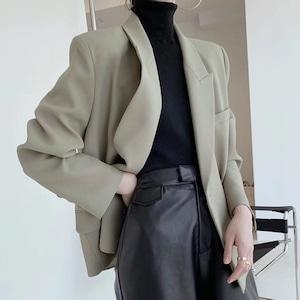 2色/ラペルデザインスタイルジャケット ・3023