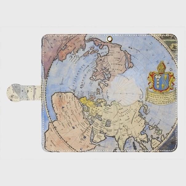 アンティークマップ(1600年代) / Androidスマホケース(手帳型ケース)