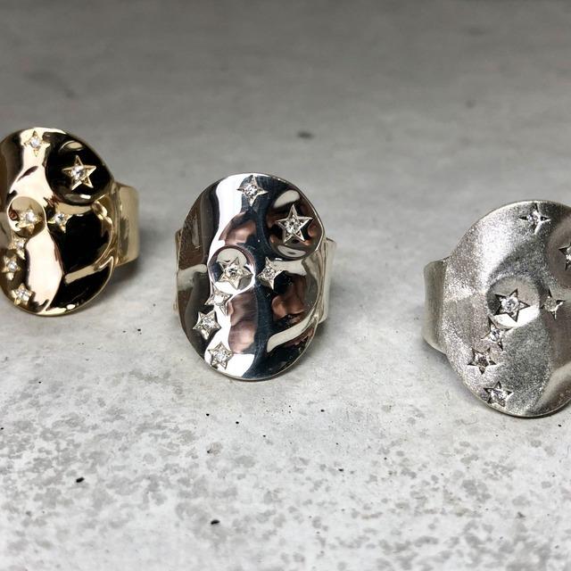 【LR-12SV】Seven stars diamond setting free size ring