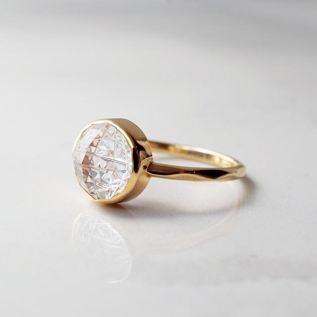 Clear Quartz KIRIKO Ring (Round 8 / R166-CQ)