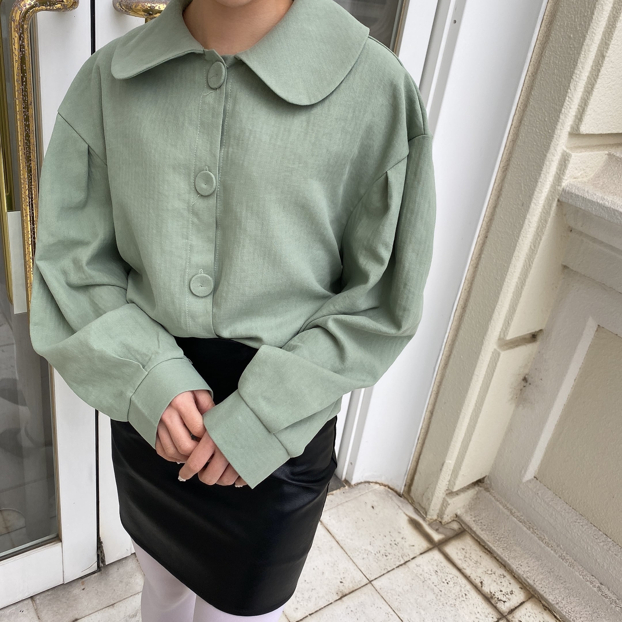 【LAST3】pastel color blouse(green)