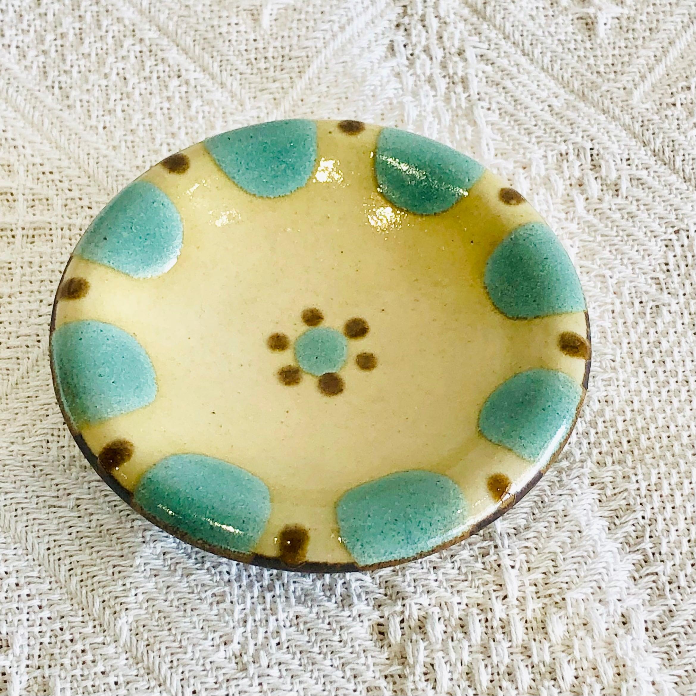 『ノモ陶器製作所』小皿 緑釉
