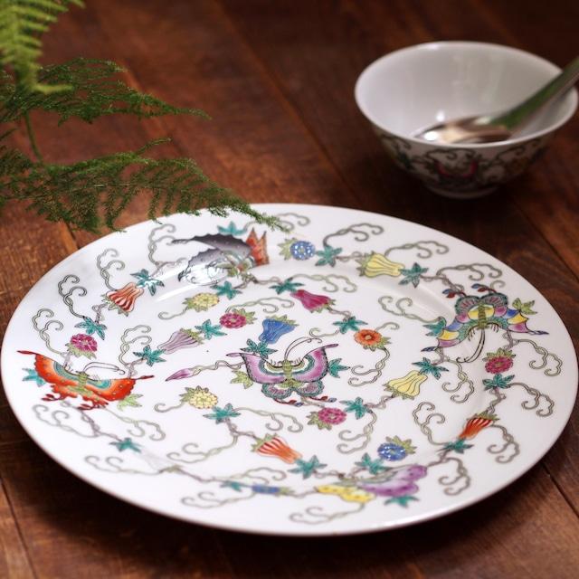 『バタフライの丸皿25センチ』景徳鎮