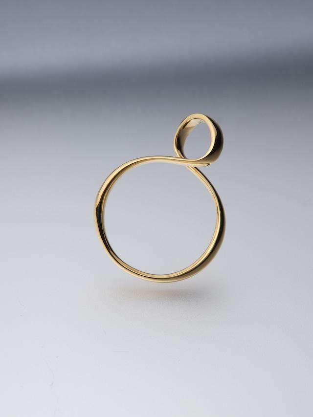 【K18plating】ribon ring S(CAAC-R035-2)