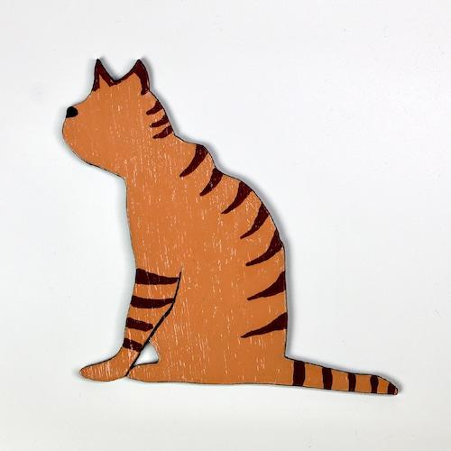 猫ちゃんウッド壁掛け(茶トラ)