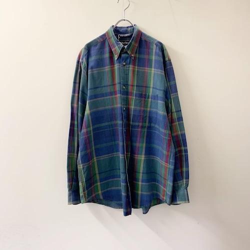 nautica コットンチェックシャツ ブルー size M メンズ 古着