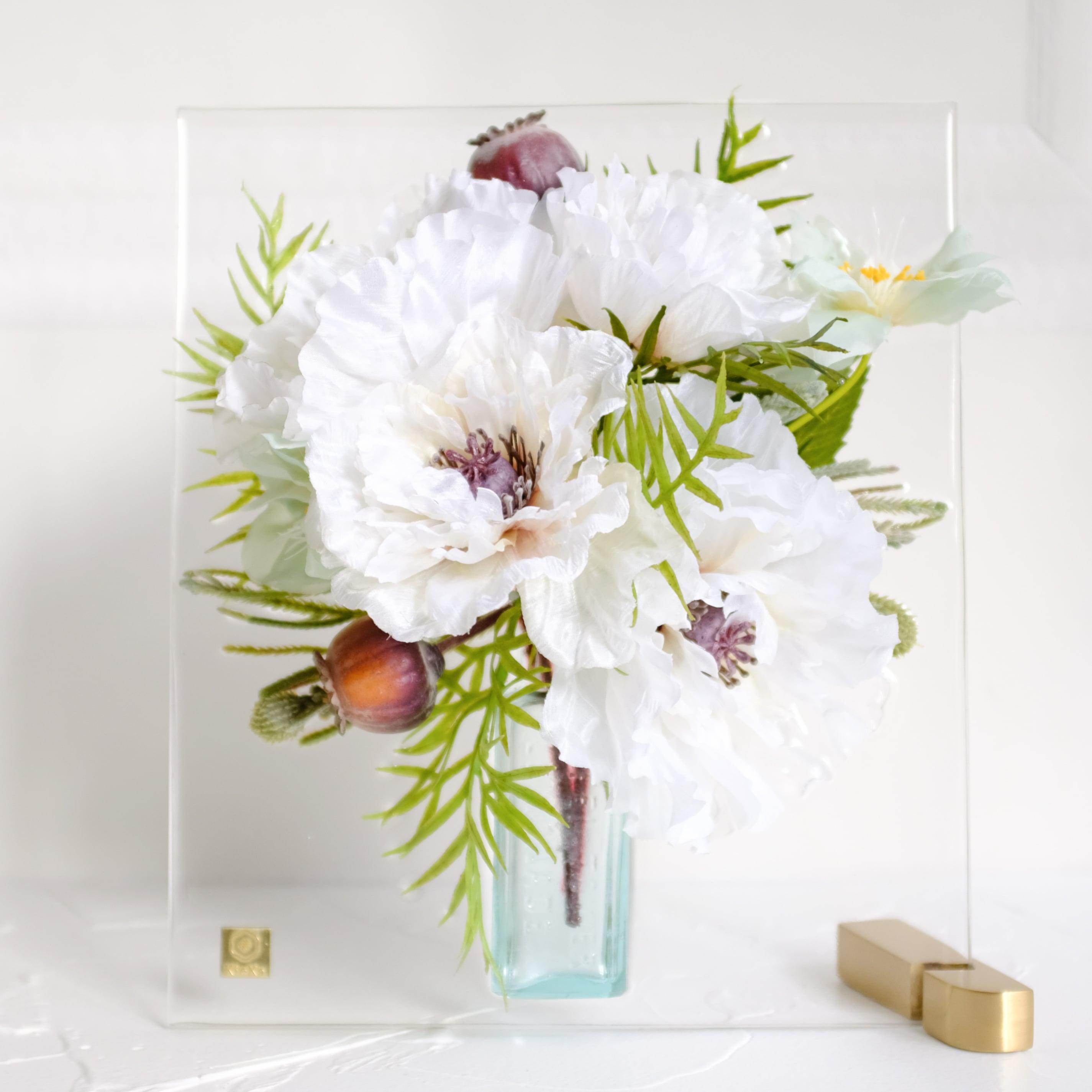 sumika M ポピー ホワイト アンティーク花瓶シリーズ
