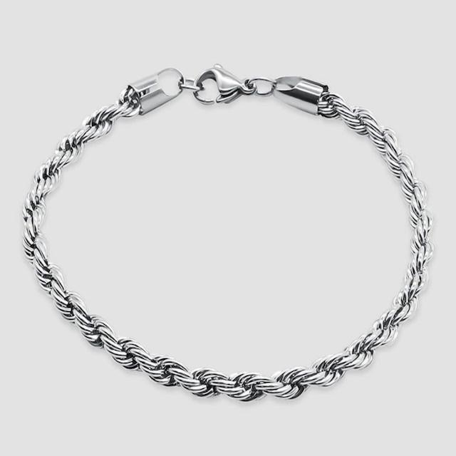 Diamond Cut Chain Bracelet 【5mm/SILVER】