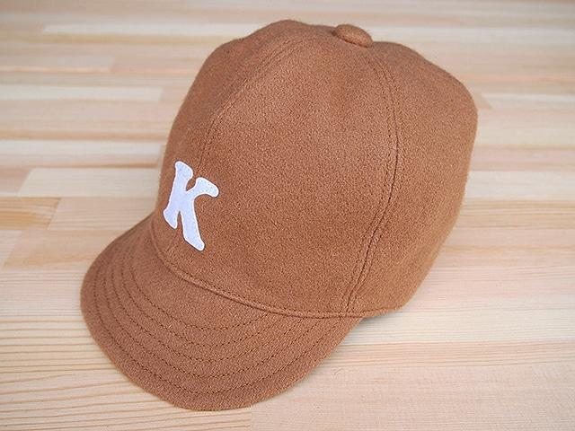"""ウール ベースボールキャップ 52㎝""""WOOL BASE BALL CAP""""(BEIGE """"K"""" 52)"""