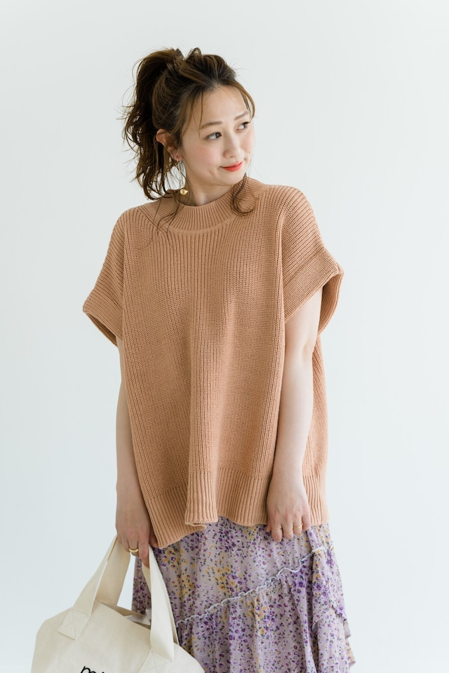 french sleeve summer knit