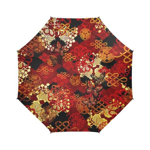 家紋装飾Red 折りたたみ傘