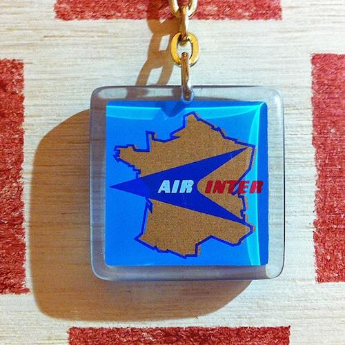 フランス AIR INTER[エールアンテール]国内航空線会社ノベルティ ブルボンキーホルダー