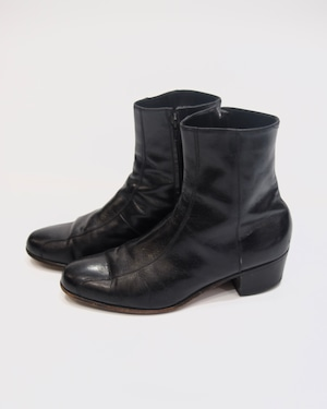 basic leather heel boots
