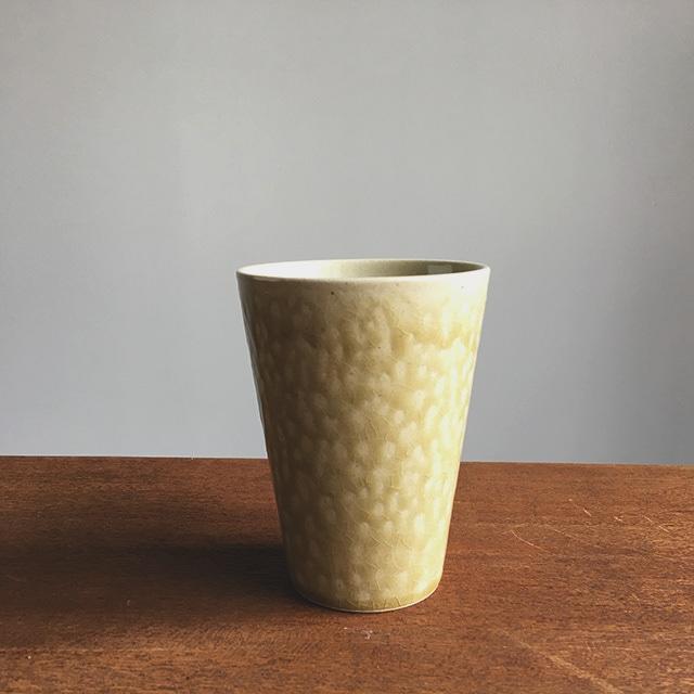 トチギマーケットオリジナル 益子焼フリーカップ 灰釉