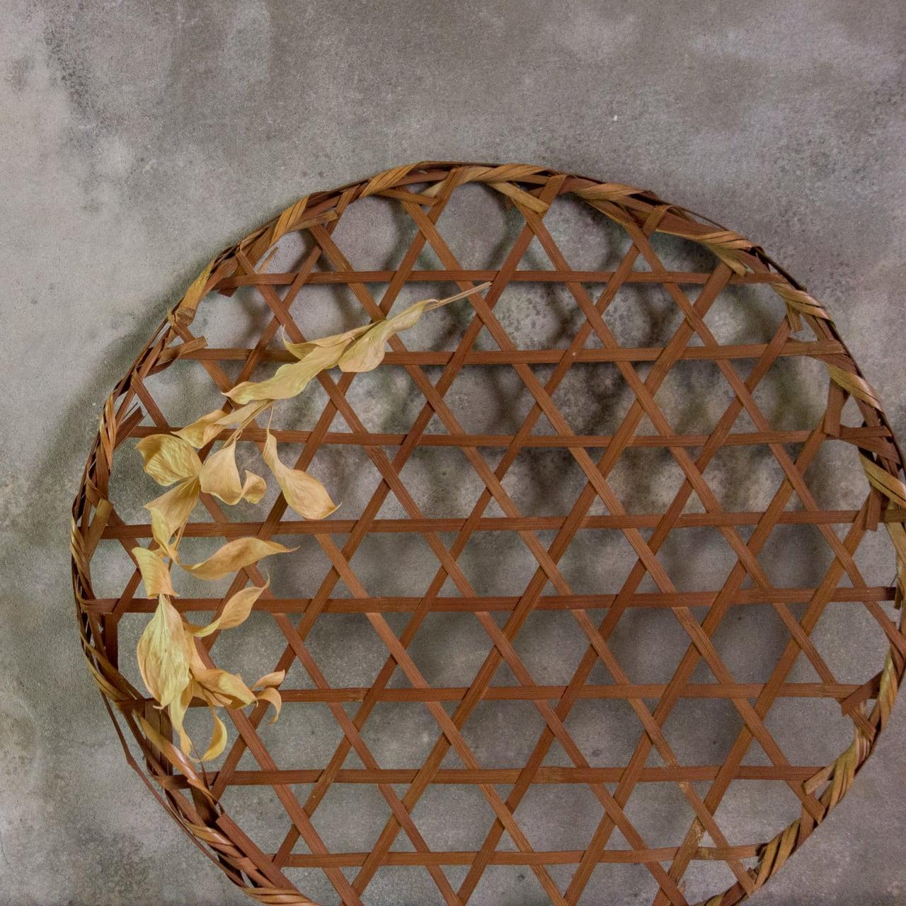 竹編み 壁掛けオブジェ