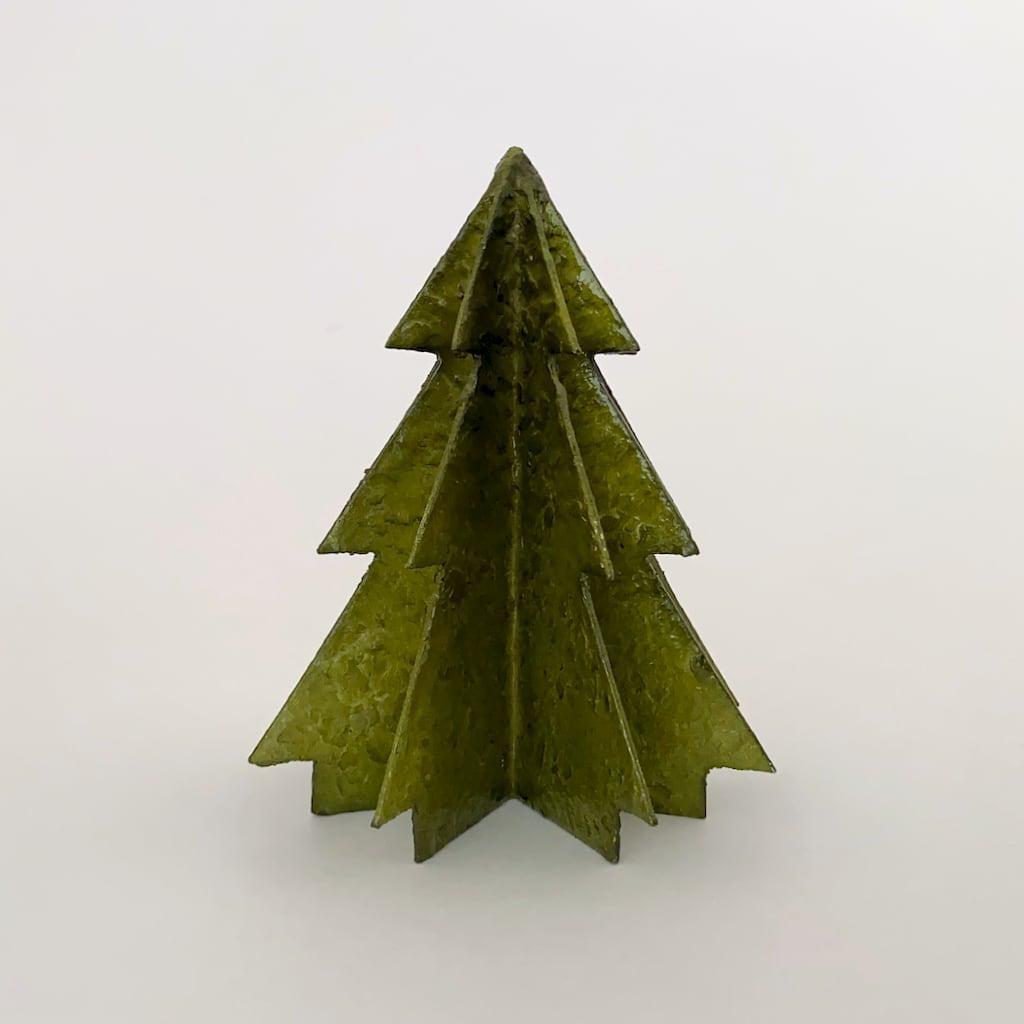 Christmas Tree Capiz Olive Green クリスマスツリー オリーブグリーン