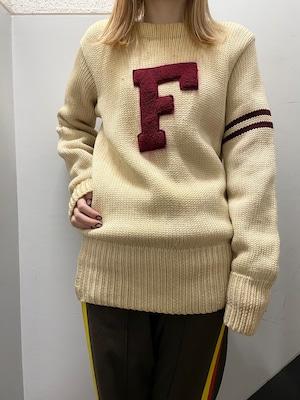 40's〜 雰囲気系 レタードセーター