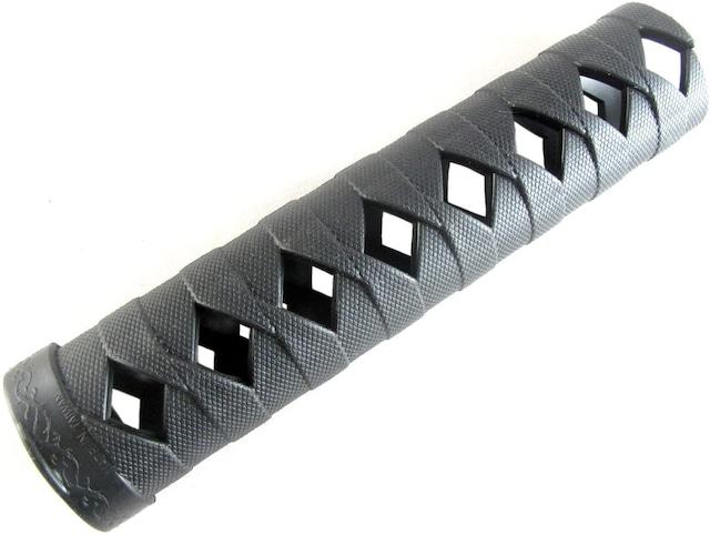 日本刀オプション グリップ 柄巻き 17.5cm 【黒】