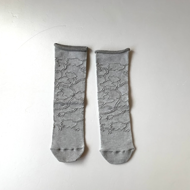 かかとのない靴下 【つつした x pink india】| gray |