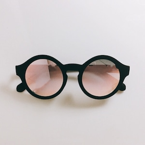 Eyewear♡ラウンド01 ピンクミラー