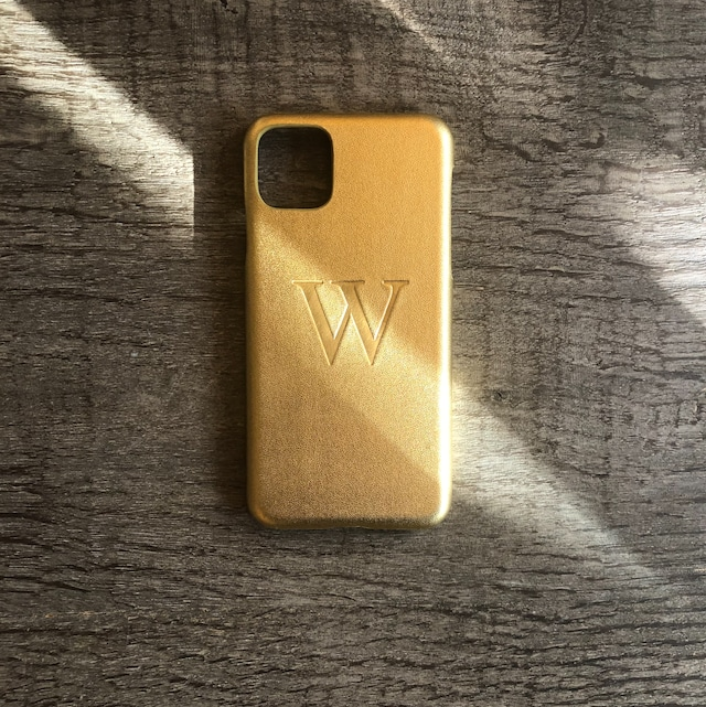 iPhone  Premium Smooth Leather Case (The Gold)