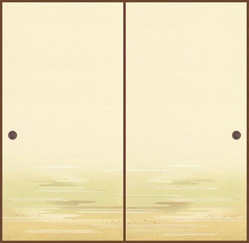 吉兆106(2枚柄) 織物ふすま紙 203cm×100cm 2枚1組セット