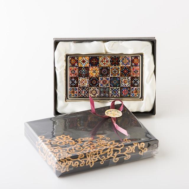 天然貝 名刺カードケース(マジョリカ)シェル・螺鈿アート