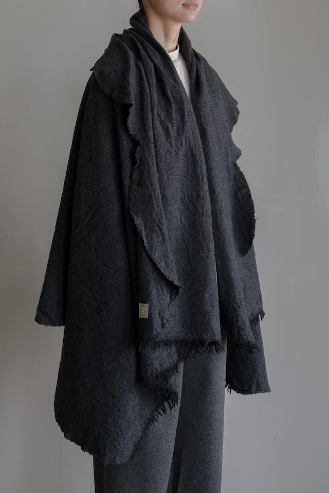 01602-1 chambray cut stole / black,charcoal