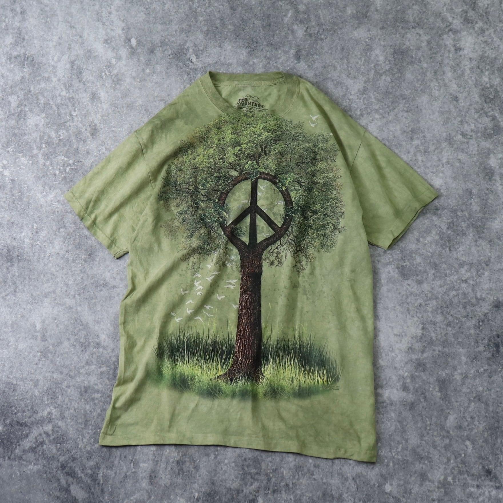 THE MOUNTAIN ザマウンテン タイダイTシャツ USA製 メンズL 古着 A463