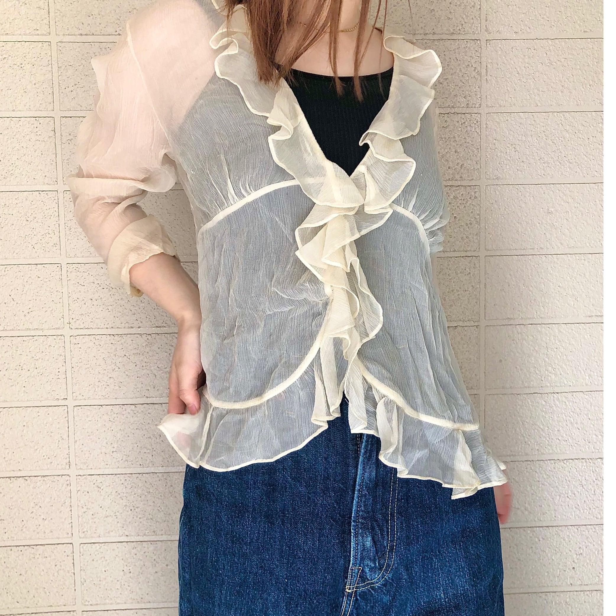Ralph Lauren frill blouse