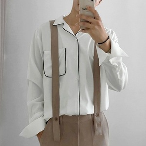 Suspenders straight pants   a-482