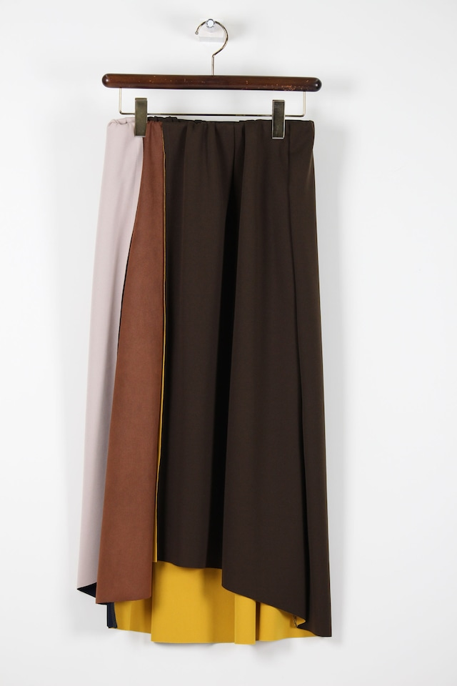 ブラウン系剥ぎスカート1086W