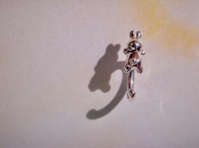 うさぎbody earring® silver925  14G #LJ21040P  16G #LJ21041P  18G #LJ21042P