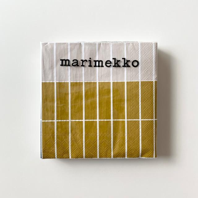 【marimekko】ランチサイズ ペーパーナプキン TIILISKIVI RAITA ゴールド 20枚入り