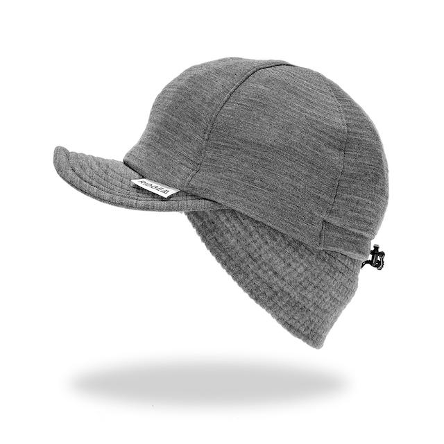 Grid Merino Earmuff Cap