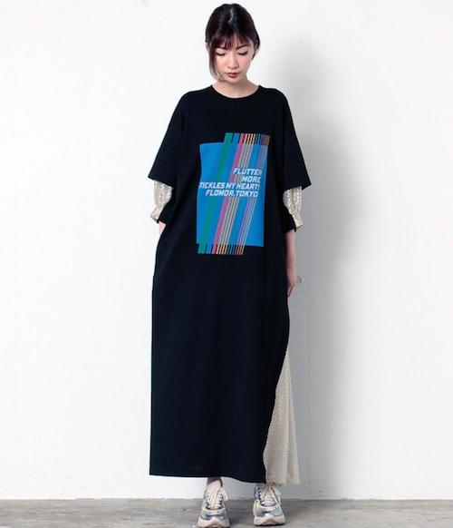 FLUMOR  Import shiny print dress
