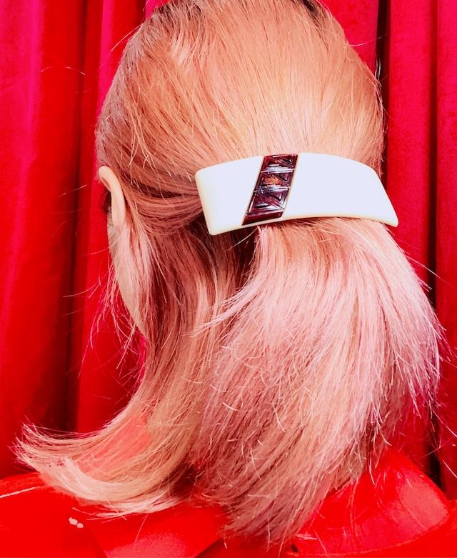 英国60's バレッタ ホワイト&ブラウン