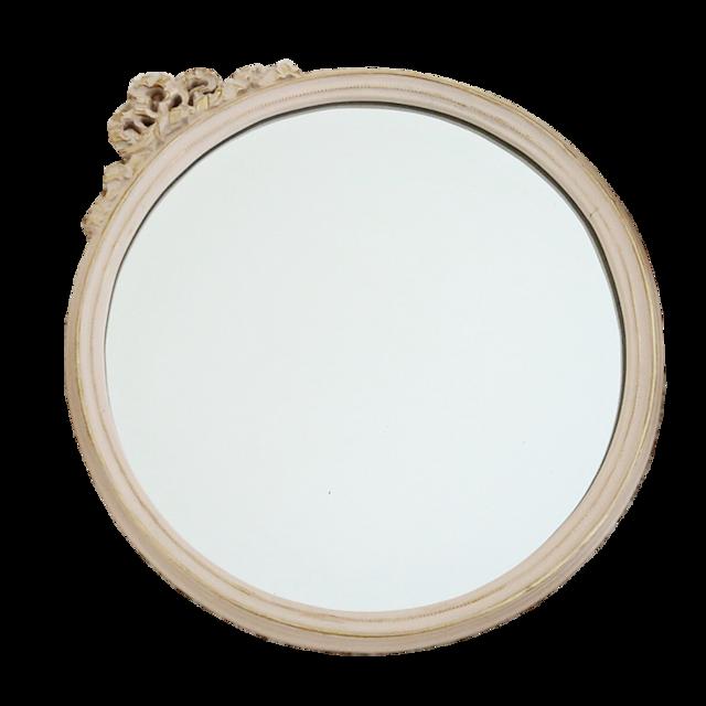 Antique cream mirror / アンティーク クリーム ミラー