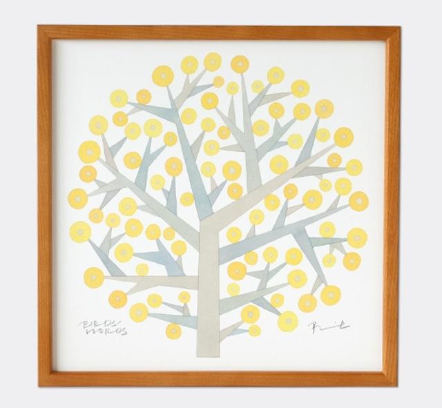 BIRDS WORDS POSTER 30  額装タイプ[木製]/TREE OF HOPE